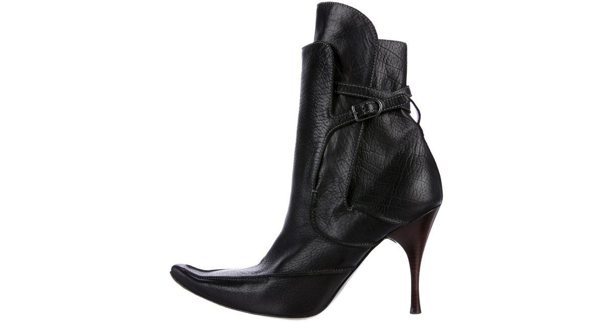 Bottega Veneta Pointed-Toe Leather Ankle Boots nicekicks 9lKX4Re6P