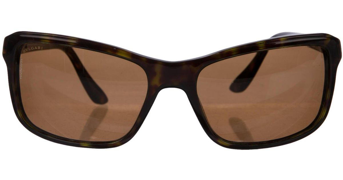 d375c46bdc Lyst - Bvlgari Tortoiseshell Polarized Sunglasses in Brown