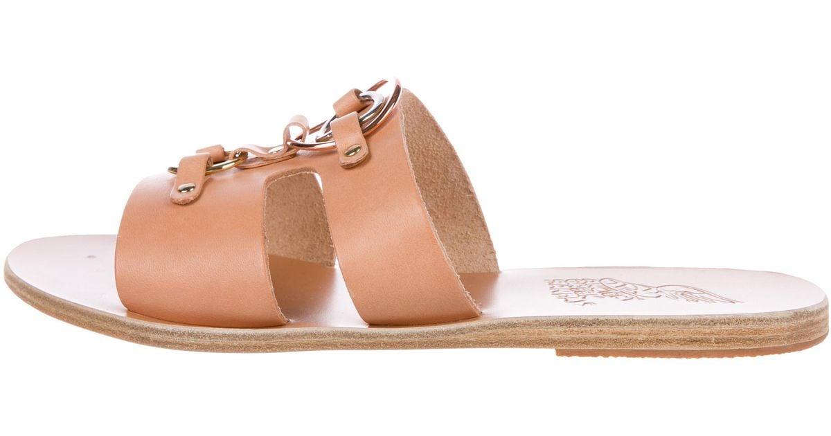 49ff245ed5813 Lyst - Ancient Greek Sandals Attiki Slide Tan in Metallic