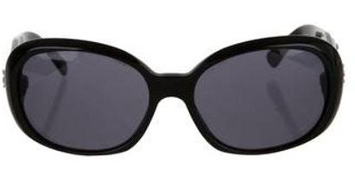 61c74a257d7 Lyst chanel camellia sunglasses in black jpg 1200x630 Chanel camellia  sunglasses