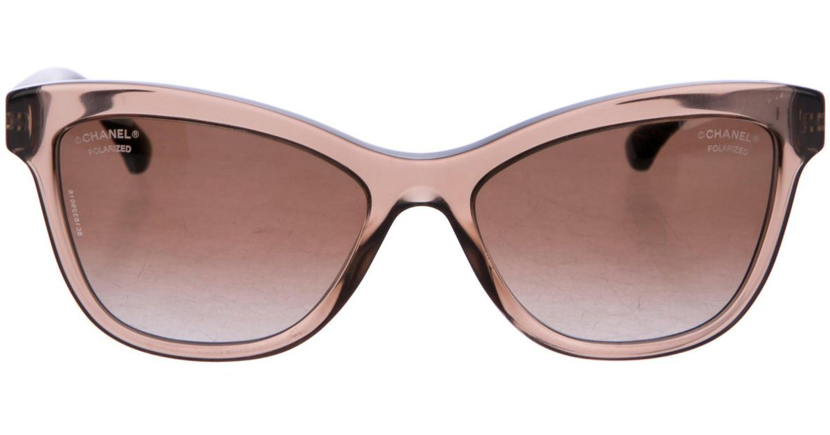 Chanel Quilted Cc Sunglasses in Brown | Lyst : chanel quilted glasses - Adamdwight.com