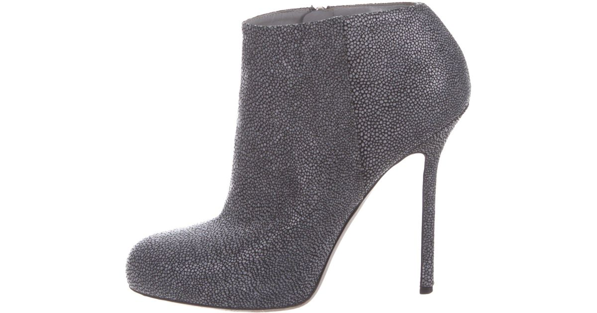Sergio Rossi Embossed Round-Toe Booties new arrival cheap online low shipping for sale visit new online fqGBzwJqsU
