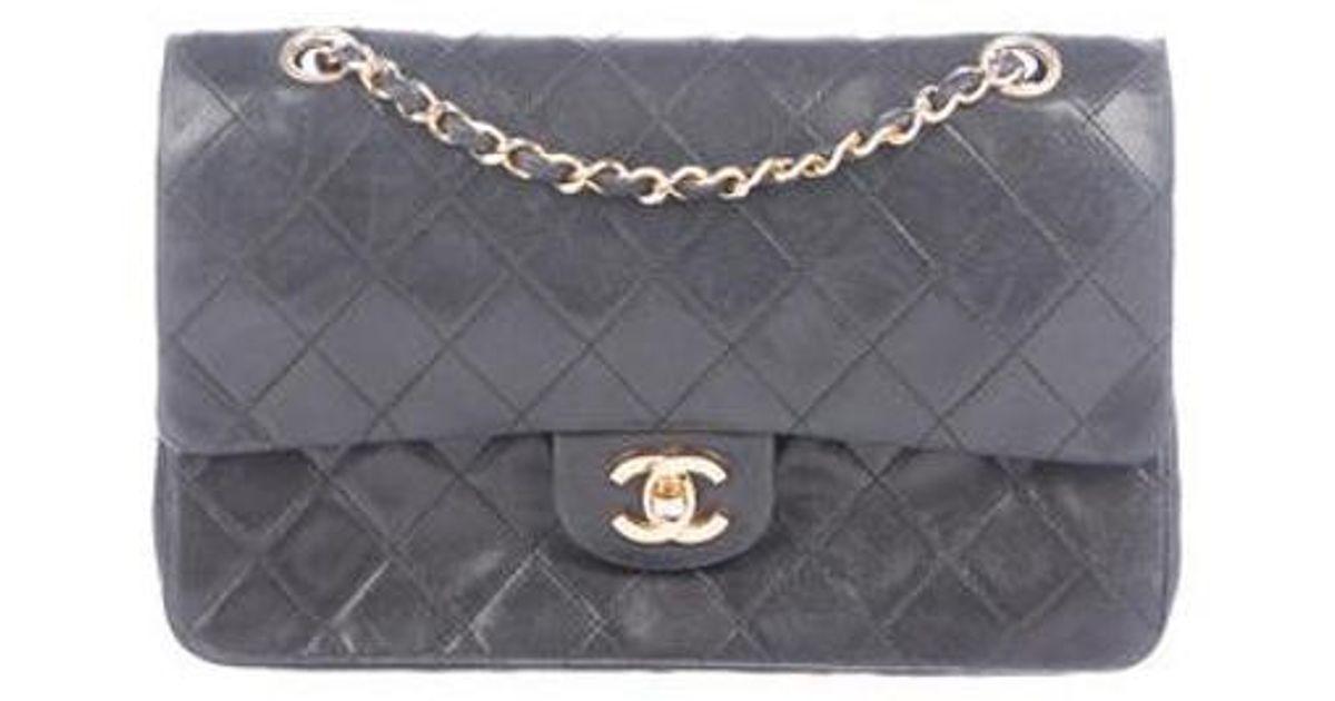 6813568aa9b2 Lyst - Chanel Vintage Medium Classic Double Flap Black in Metallic