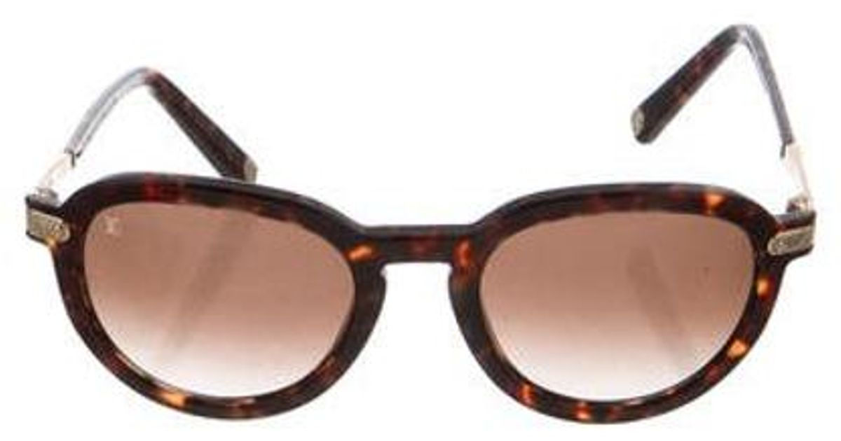 bdc29bd0425 Lyst - Louis Vuitton Rosalie Tortoiseshell Sunglasses in Brown