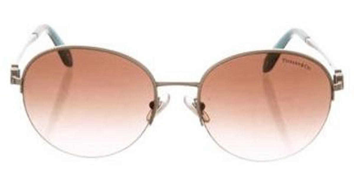 9978c02418f6 Lyst - Tiffany   Co Gradient Round Sunglasses Silver in Metallic
