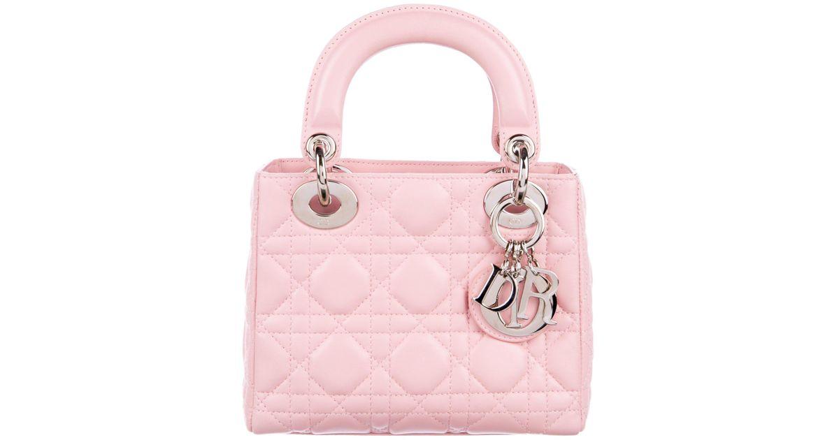 dior pink bag