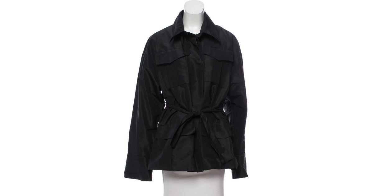 e422c01d1449 Lyst - Hervé Léger Belted Long Sleeve Jacket in Black