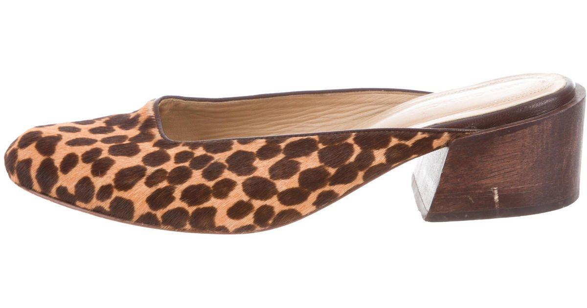 Mari Giudicelli Ponyhair Pointed-Toe Mules sale hot sale XgDWWL