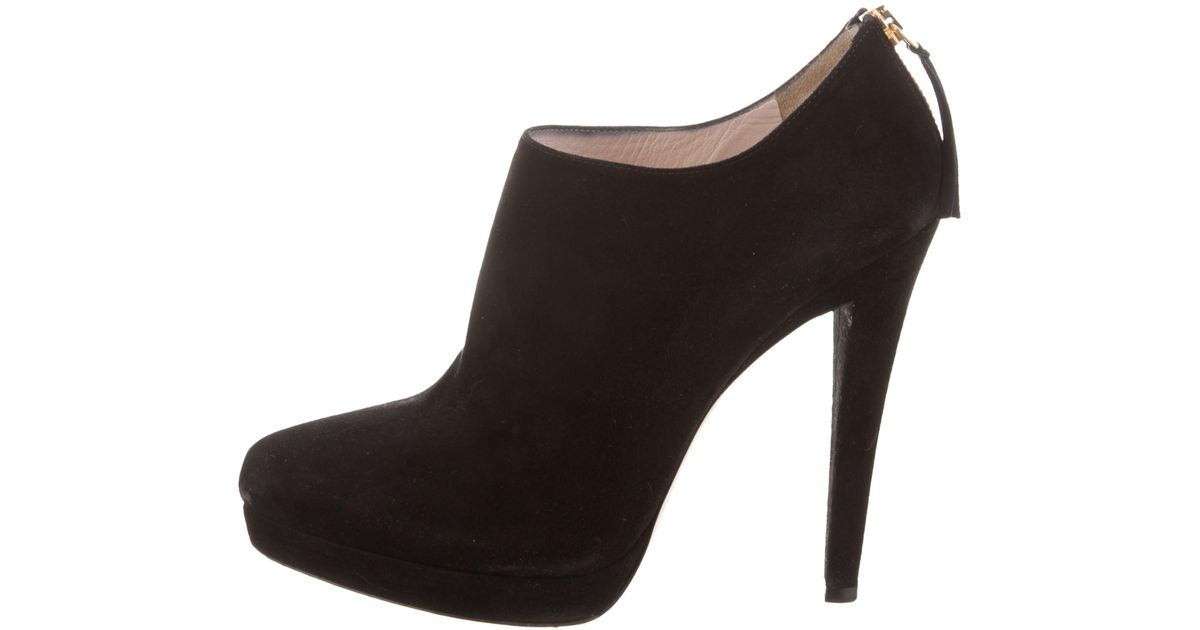 Miu Miu Suede Pointed-Toe Boots cheap top quality sale amazon sale new arrival cheap online shop discount buy ov48447u