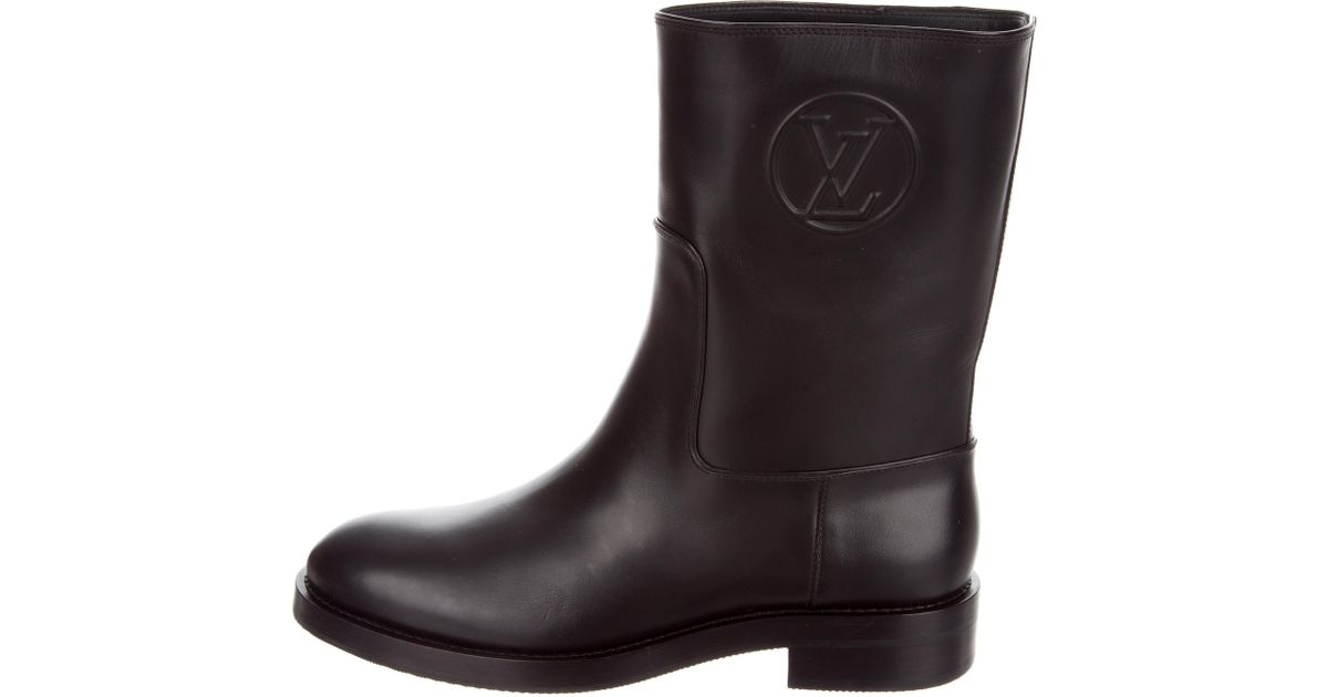 Lyst - Louis Vuitton Overdrive Ankle Boots W  Tags in Black f7724c05be3