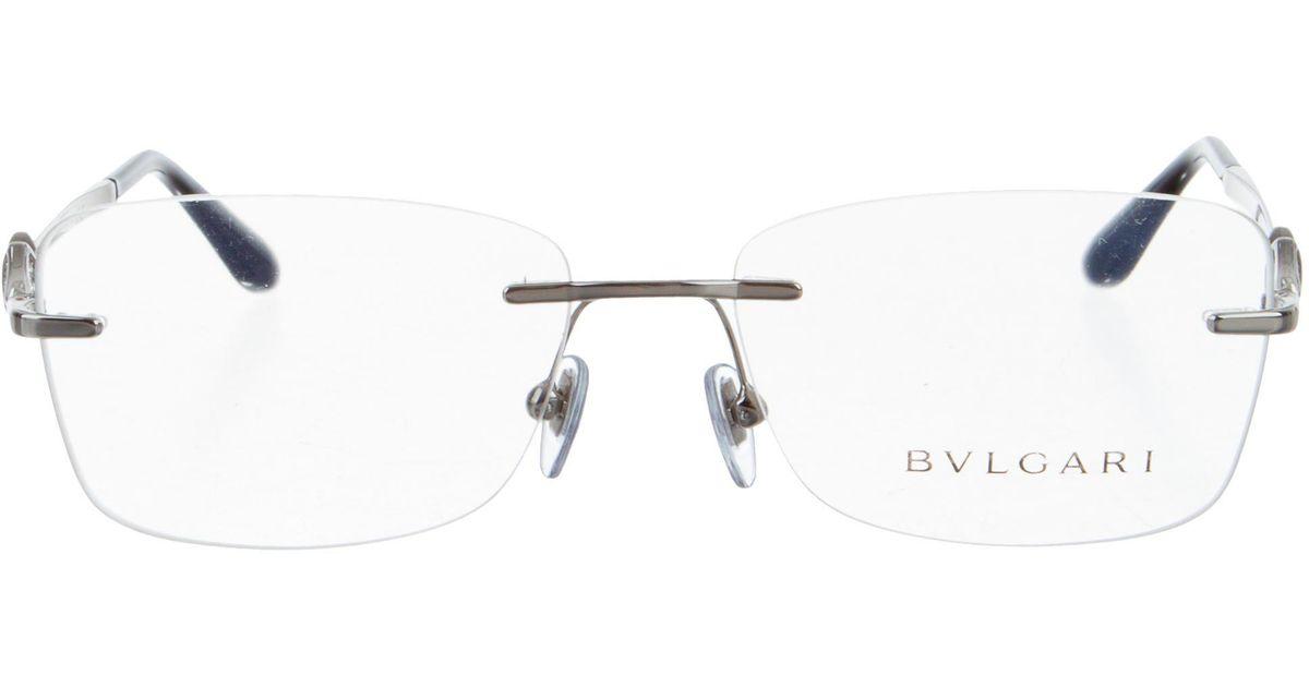 Lyst - Bvlgari Embellished Rimless Eyeglasses W/ Tags Silver in Metallic