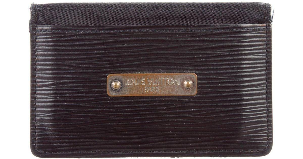 36209bfac2d1 Lyst - Louis Vuitton Epi Card Holder Black in Metallic for Men