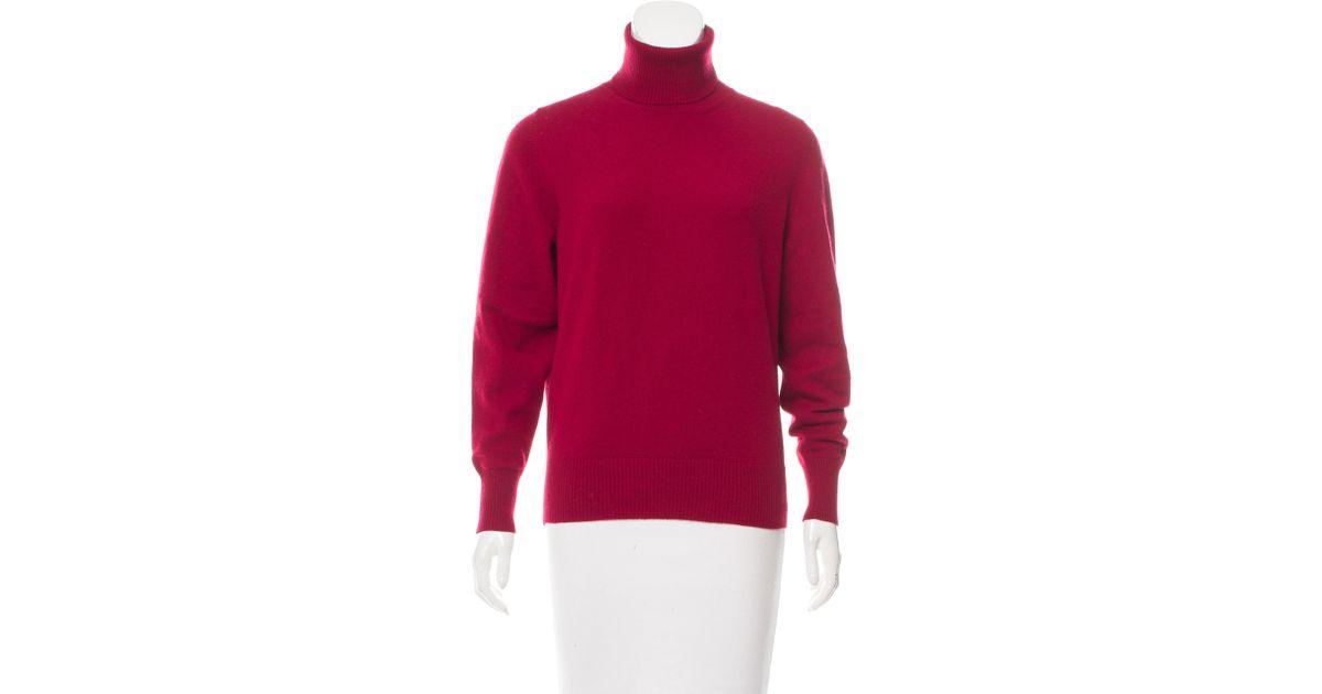 a49635e503b0 Lyst - Loro Piana Turtleneck Cashmere Sweater in Red
