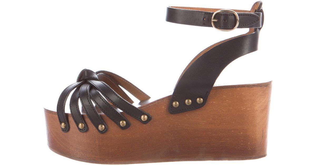 afafd669486 Lyst - Étoile Isabel Marant Zia Platform Sandals Black in Metallic
