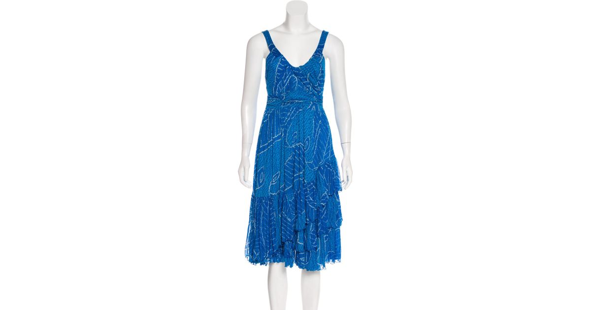 Diane von Furstenberg Kipling Printed Midi Dress w/ Tags Buy Cheap New oiCp8bwM