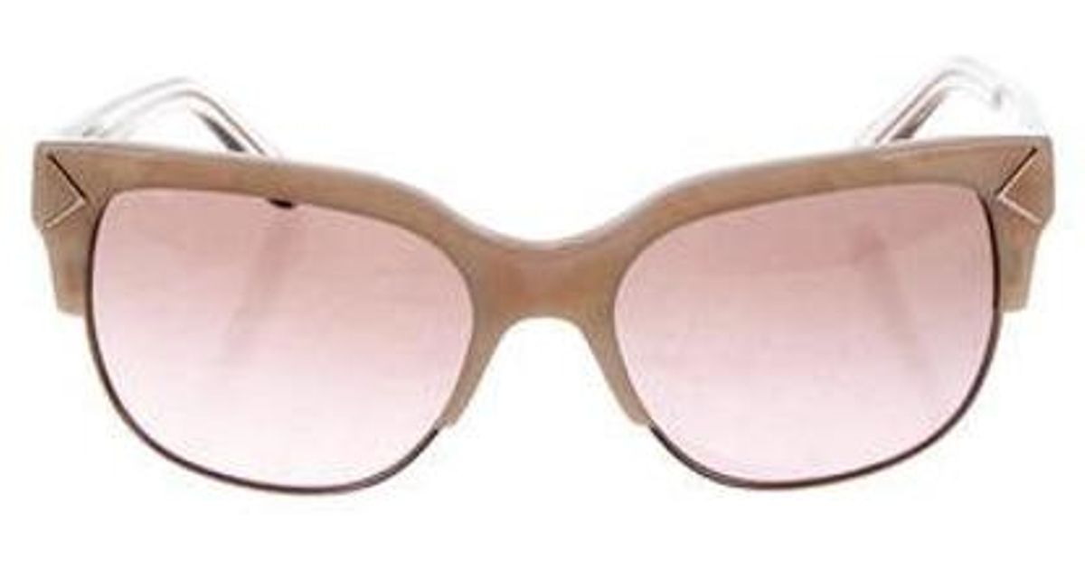 6d9c19c9479f Lyst - Tory Burch Iridescent Cat-eye Sunglasses Neutrals in Natural