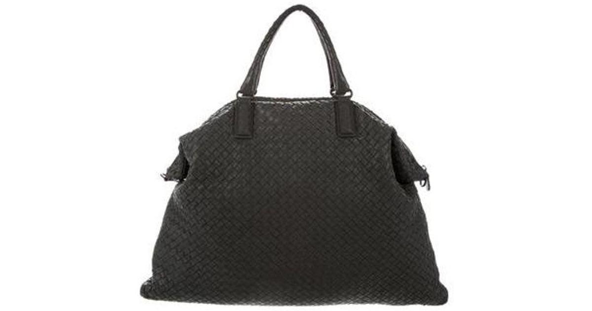 Lyst - Bottega Veneta Convertible Intrecciato Leather Bag Grey in Gray ececc2f3c8bba