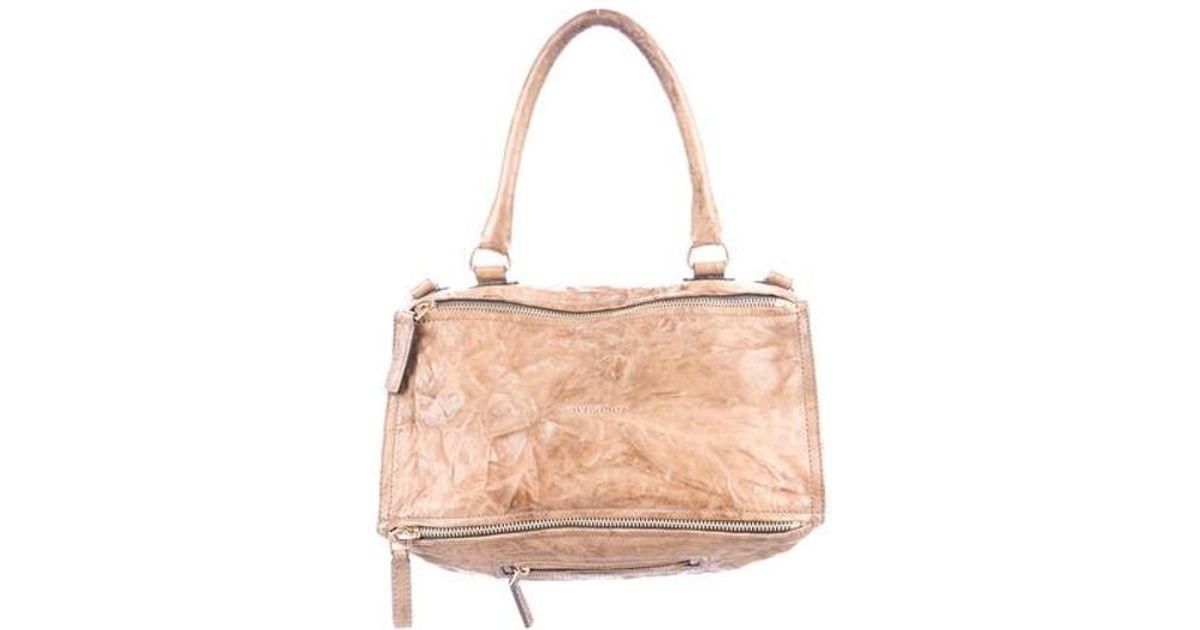 4f4266ef0a Lyst - Givenchy Medium Pandora Bag Brown in Metallic