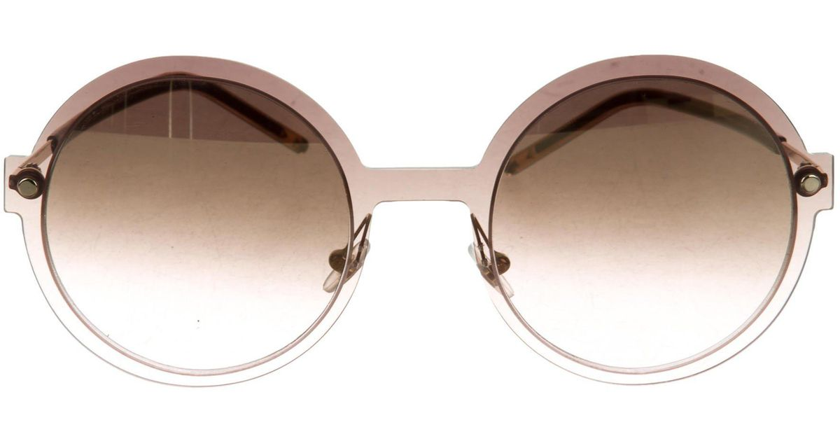e98110097524 Lyst - Marc Jacobs Gradient Round Sunglasses Brown in Metallic