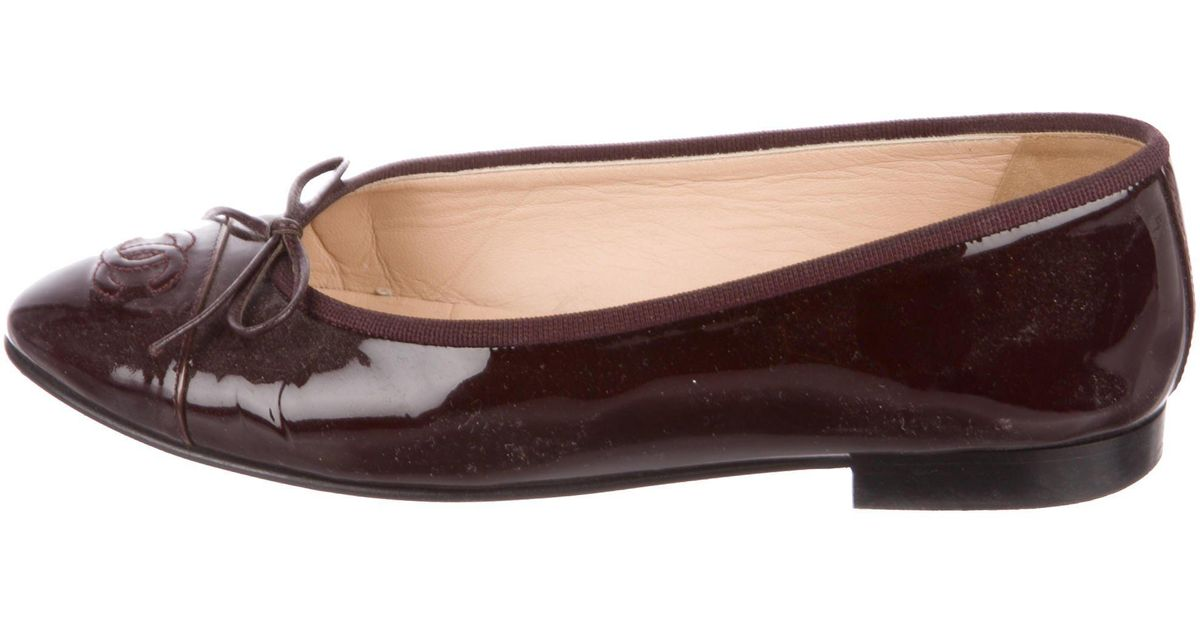 CHANELPatent Leather Flats zQ6OziGE