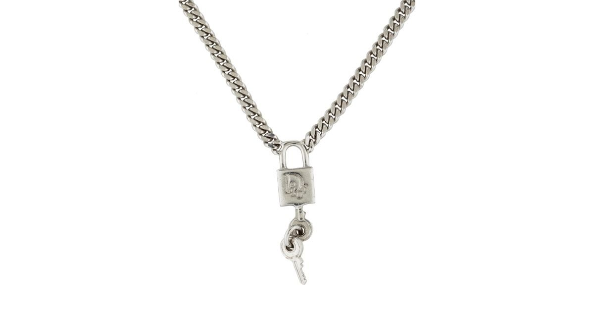 jacobs lock goldsilver i gold key new by tone silver necklace padlock marc