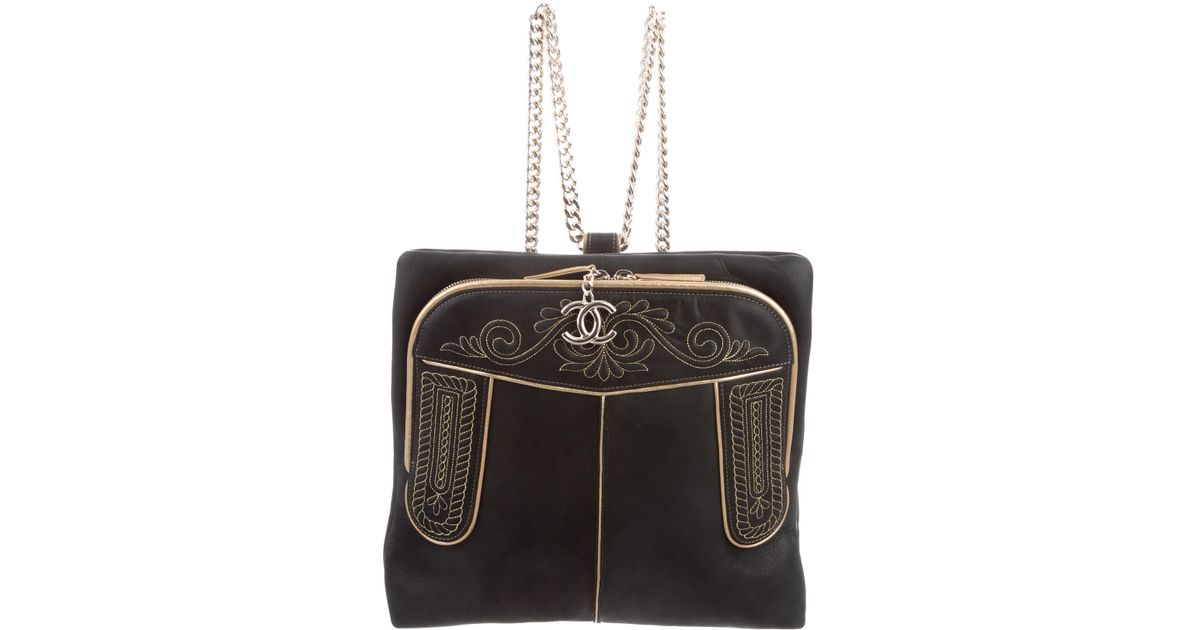 a1b503b2f29 Lyst - Chanel Paris-salzburg Cc Hunting Backpack W  Tags Black in Metallic