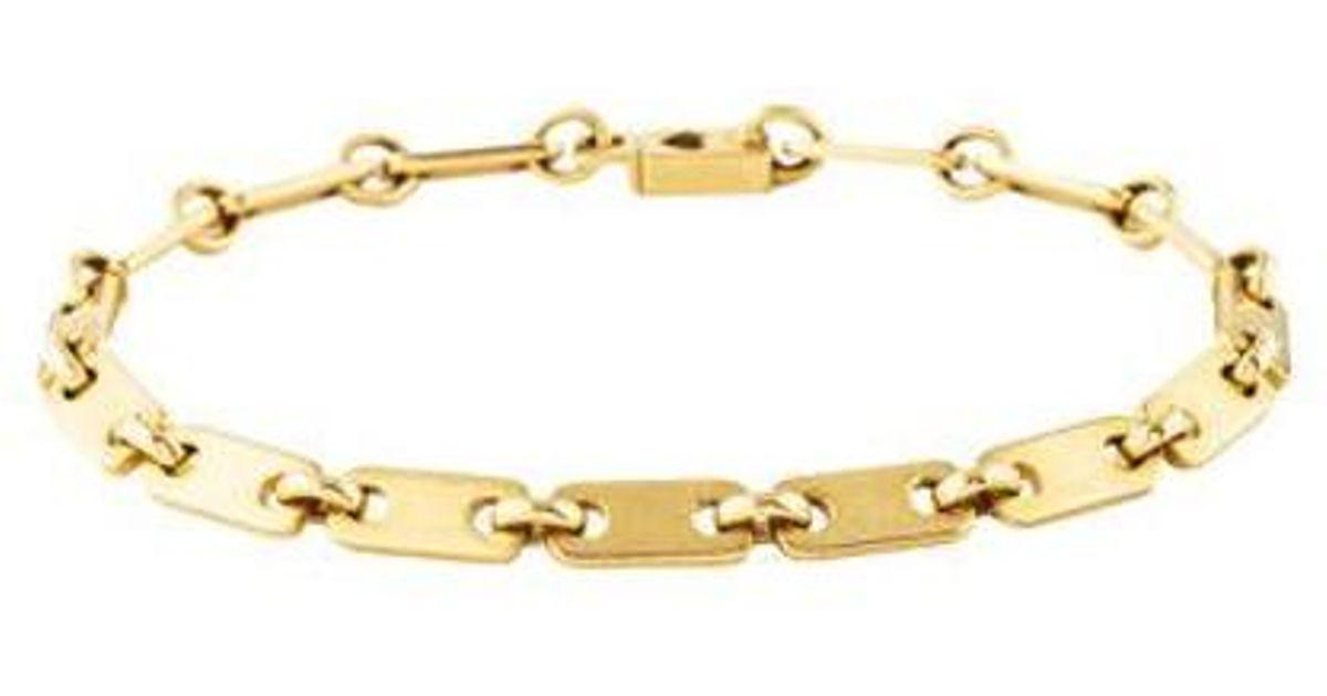 603c60ae09a12 Cartier - Metallic 18k Fidelity Bracelet Yellow - Lyst