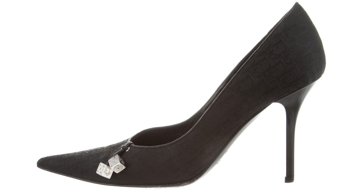 buy cheap find great Christian Dior Logo-Embellished Pointed-Toe Pumps cheap best osQsm38F42