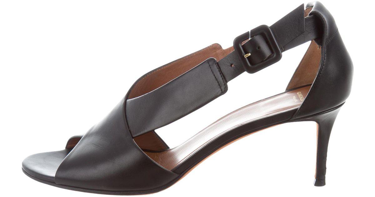 Black leather cross-over sandal Givenchy xRfFj6F