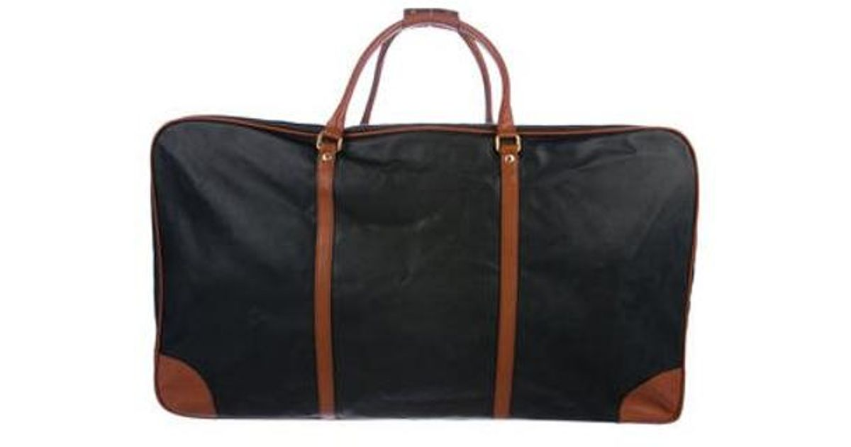 d689cbfe73 Lyst - Bottega Veneta Marco Polo Canvas Suitcase Black in Metallic for Men