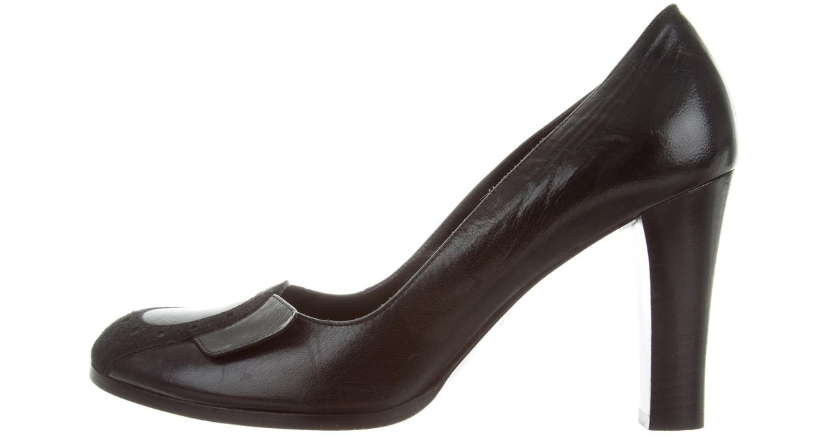 Marc Jacobs Leather Round-Toe Pumps discount 2014 new bYq6Jd84Sl