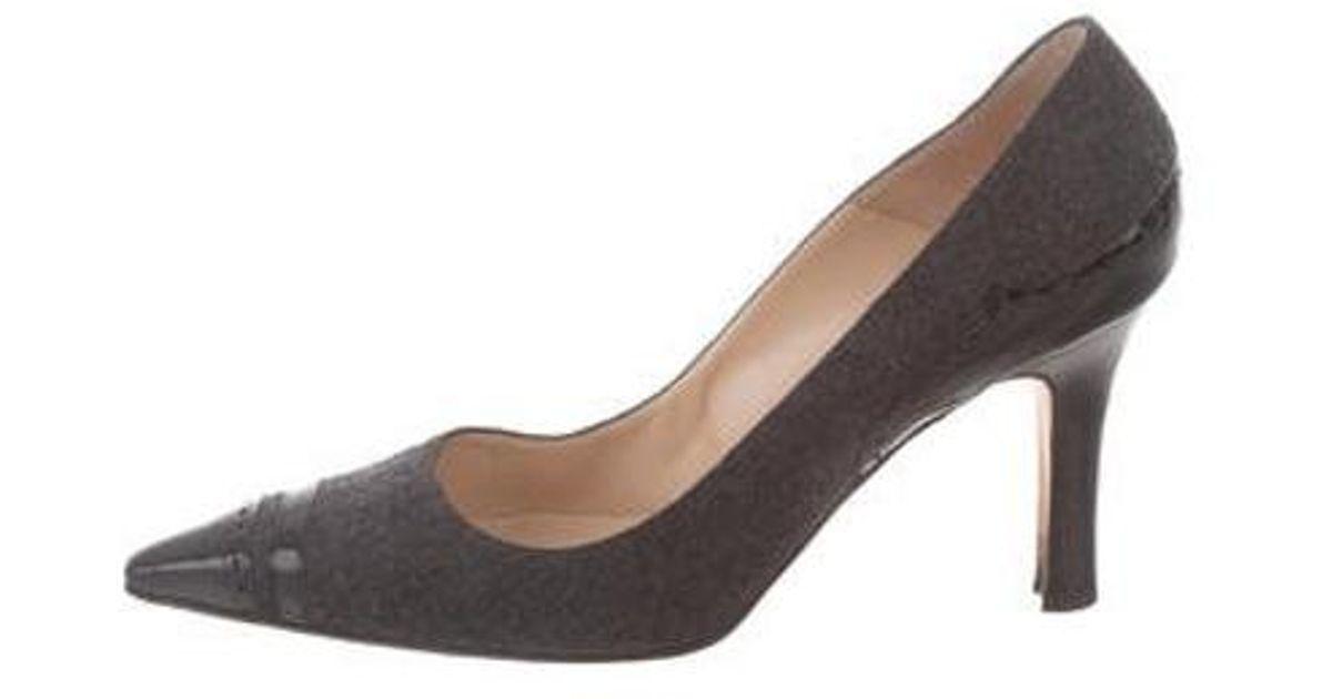 dcb84243ad Lyst - Manolo Blahnik Wool Pointed-toe Pumps Grey in Gray