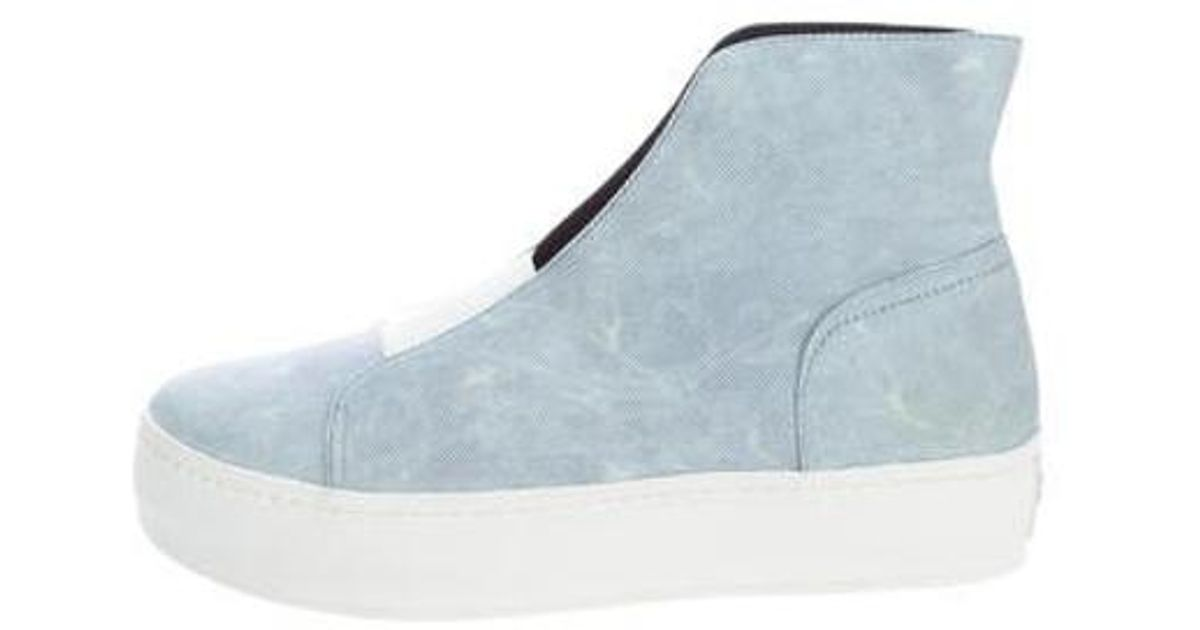 dc9cf80e10b Lyst - Opening Ceremony High-top Platform Sneakers in Blue