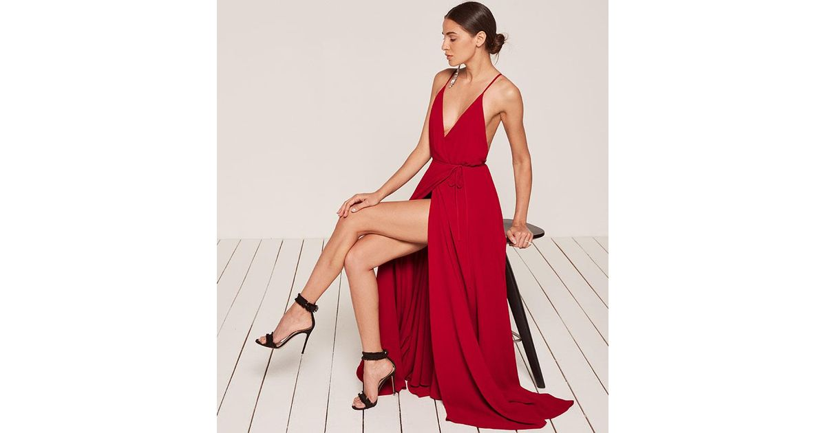 d8cb7aff3615f9 Reformation Callalily Dress in Red - Lyst
