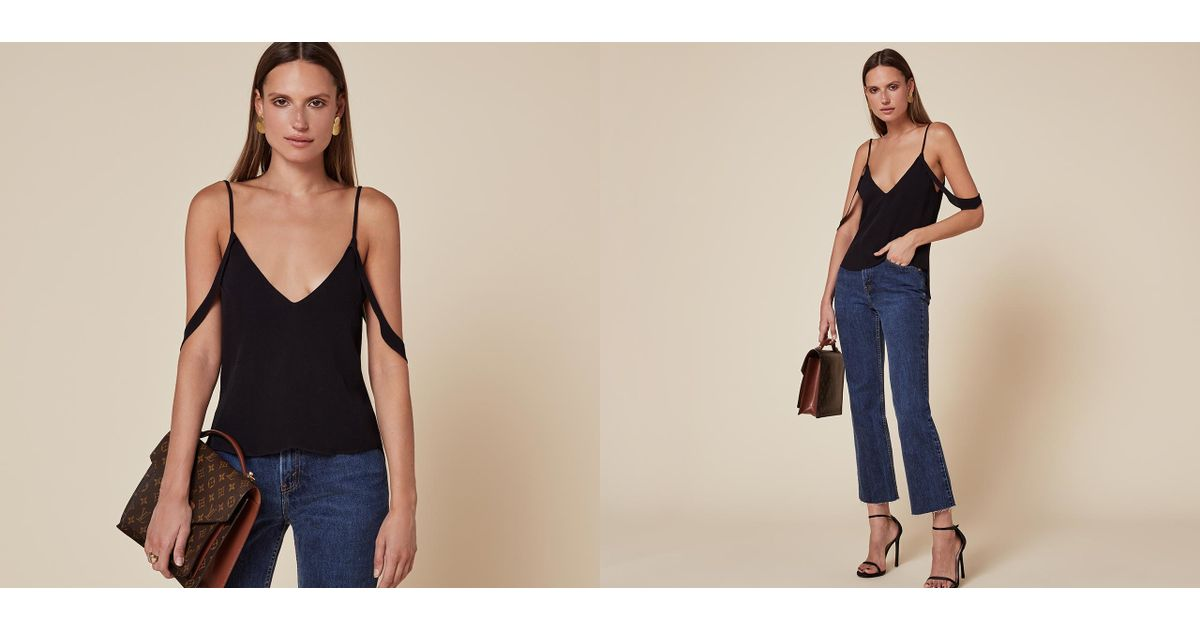 Reformation Lilith Top In Black Lyst