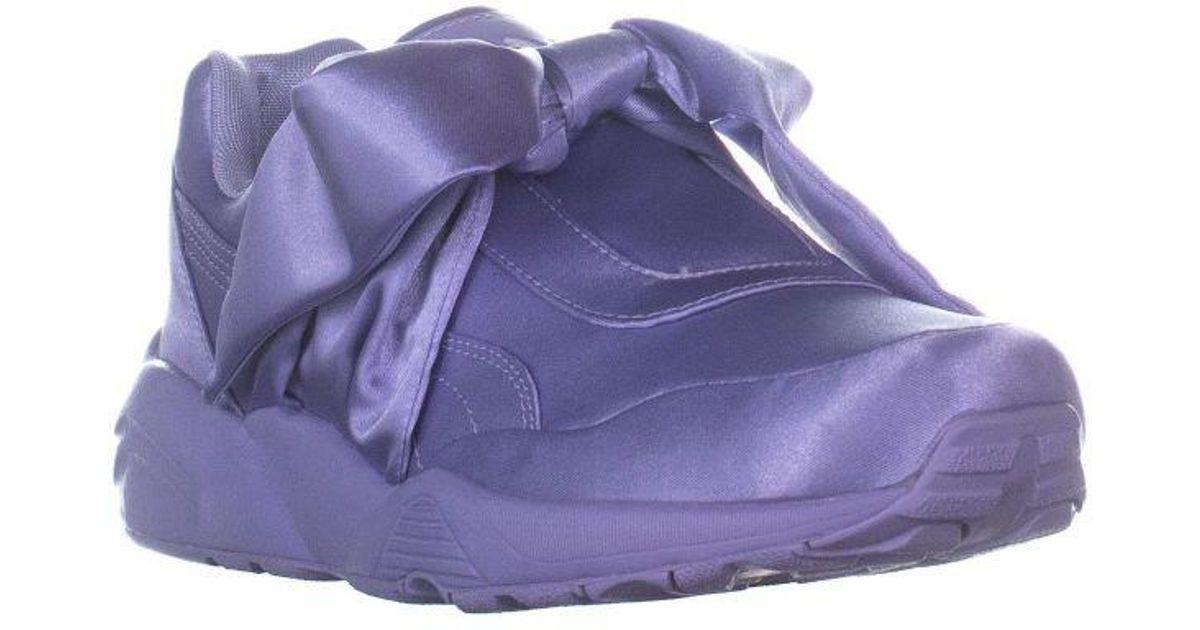 uk availability 404cb 93e97 PUMA - Purple Fenty Bow Sneaker Slip On Fashion Sneakers - Lyst