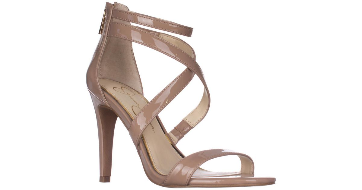 58013388ffe Lyst - Jessica Simpson Ellenie Heeled Sandals in Natural