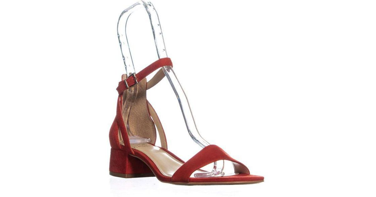 199f1c7acb Lyst - Vince Camuto Shetana Ankle Strap Sandals in Red