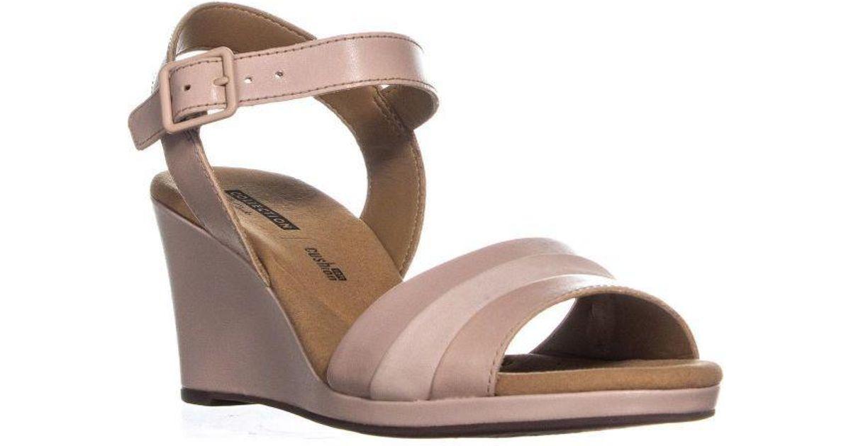 62e23dbecfa1 Lyst - Clarks Lafley Aletha Ankle Strap Wedge Sandals