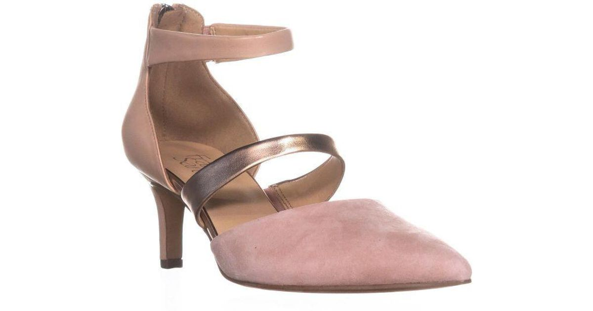 a3a469a1230 Lyst - Franco Sarto Davey Kitten Heel Pumps in Pink