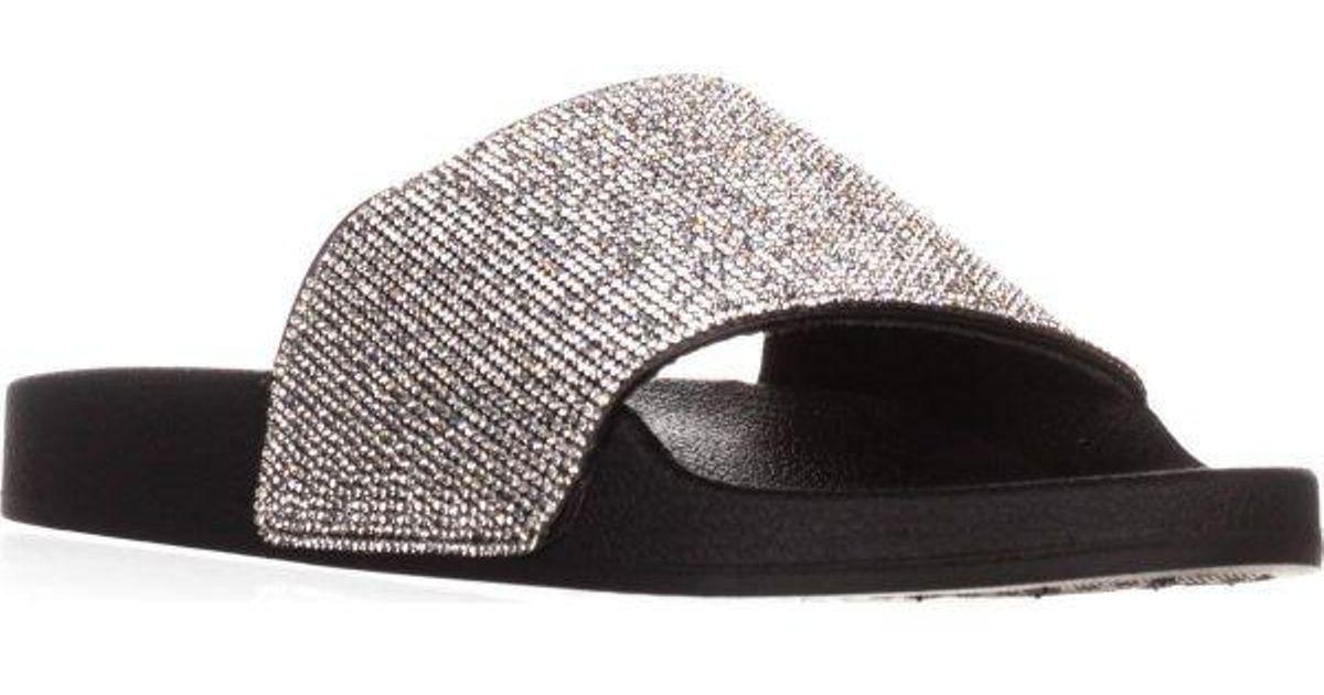 ff66f460393b Lyst - Madden Girl Fancy Slide Sandals in Black