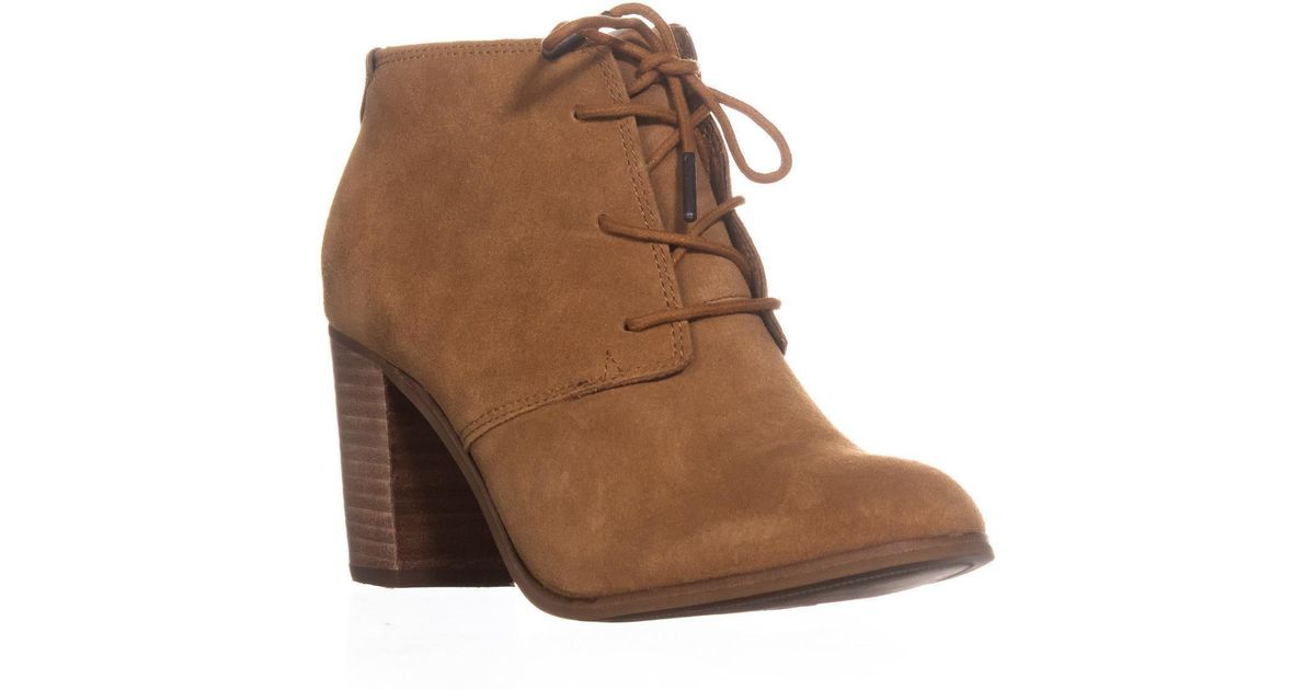 e7e648ff310 Toms Lunata Lace-up Booties in Brown - Lyst