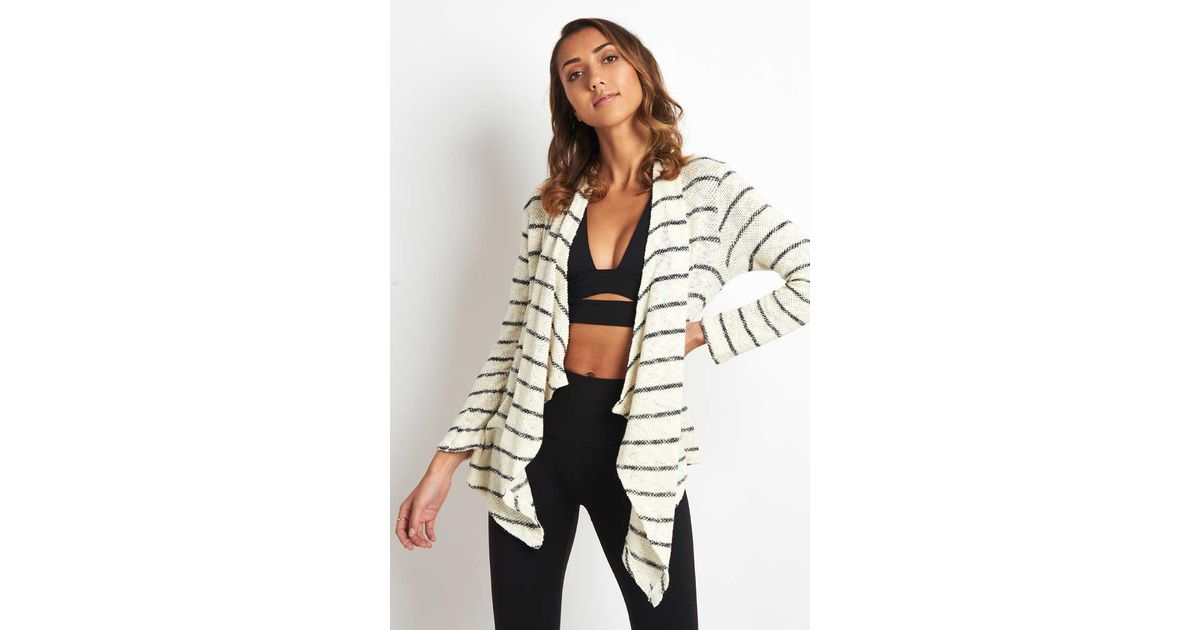 478f6508fdbe71 Lyst - Sundry Striped Love Always Cardigan