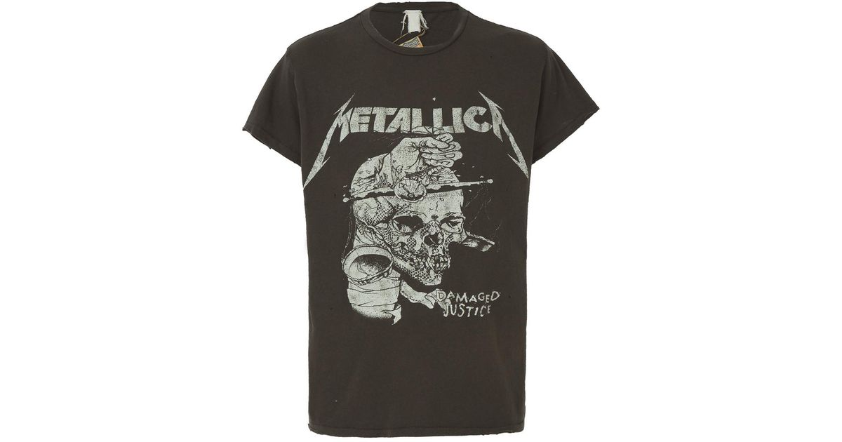 5925099bc ... madeworn metallica damaged justice t shirt in black for men lyst ...