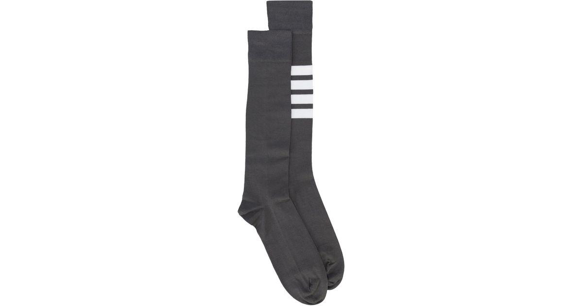31b06eaa1df Lyst - Thom Browne Striped Socks in Gray for Men