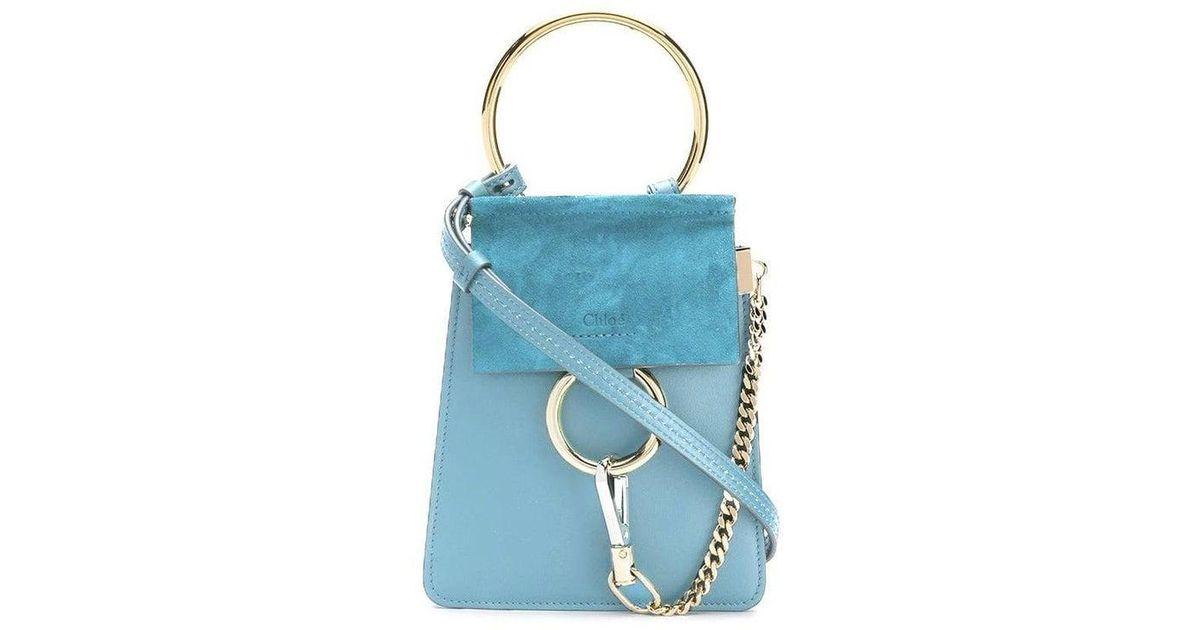 b05a8d3b Chloé - Faye Mini Bag, Tomboy Blue - Lyst