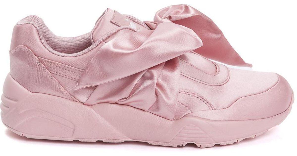 sports shoes 3298b 9faa0 PUMA - Pink Fenty X Rihanna Satin Bow Sneakers - Lyst