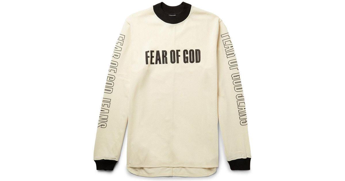 Lyst Fear Of God Oversized Mesh T Shirt In Black For Men