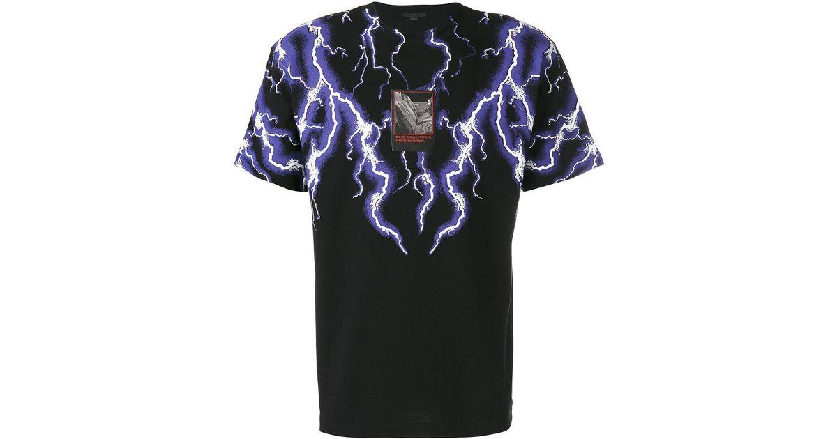 9e03badc0 Alexander Wang Lightning Collage Short Sleeve Tee in Black for Men - Lyst