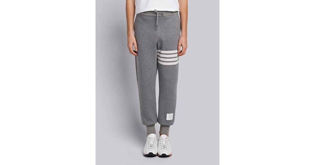 72c8bb695af4 Lyst - Thom Browne 4-bar Cashmere Shell Sweatpant in Gray for Men